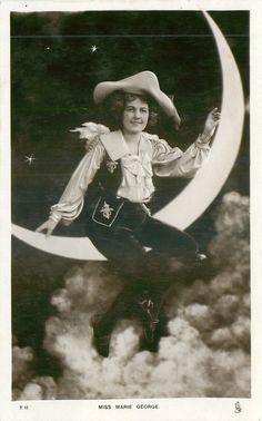 MISS MARIE GEORGE on paper moon