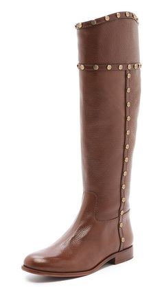 mae tall boots / tory burch  I want these so i can write andy on the bottom
