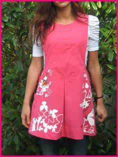 pichi maestra AITZIBER Class Activities, Aprons, Clothes, Fashion, Apron, Vestidos, Sewing Aprons, Fabrics, School Clothing
