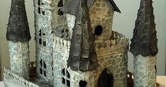 Hello everyone! I have a fun Sizzix tutorial to share with you today. When I made my Tall Grungy Houses a few weeks ago, they got me think. Castle Crafts, Medieval Castle, Hello Everyone, Crafting, Houses, Superhero, Outdoor Decor, Fun, Elves