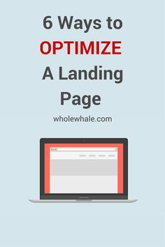 Learn how to design a user friendly landing page to increase your organization's impact! http://www.wholewhale.com/tips/6-laws-landing-page/?utm_source=Pinterest&utm_medium=cpc&utm_campaign=July2015