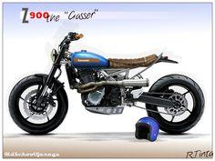 kawasaki#z900my#street tracker#special scrambler#mtorcycles render special