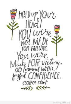 Go forward with confidence
