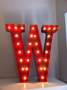 lettere luminose effetto Luna Park