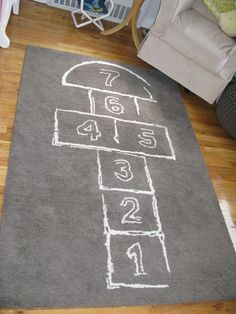 What a fun rug for a nursery or kids room - Hopscotch Rug from @CB2pins