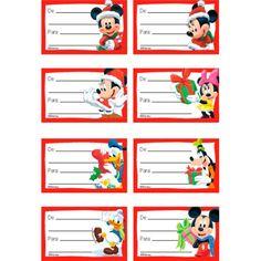 ARTE COM QUIANE - Paps,Moldes,E.V.A,Feltro,Costuras,Fofuchas 3D: Etiqueta de Natal com Tema Mickey e Minnie para imprimir e usar
