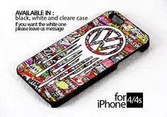 AJ 133 dropping vw logo - iPhone 4/4s Case