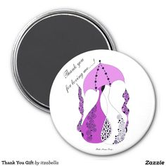 Thank You Gift 3 Inch Round Magnet