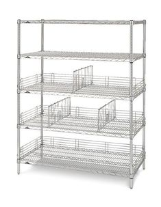 Slanted Shelving Unit...great for catheter cart or for