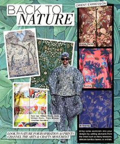 winter 2015 print trends, back to nature Stylized botanical blooms with an Arts & Crafts feel creep their way across the runways bringing a sense of enchantment with them. Winter Trends, Spring Trends, Fall Winter 2015, Summer 2015, Trends 2015 2016, 2015 Fashion Trends, Future Trends, Fashion Forecasting, Arts And Crafts Movement