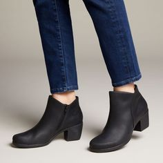 Un Lindel Zip Black Oily Leather - Clarks® Shoes Official Site Clarks Store, Shoe Tree, Leather Shoes, Casual Shoes, Ankle Boots, Zip, Heels, Black, Shoe Collection