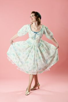 Vintage 1950s Party Dress Liesel Dotted Swiss by unionmadebride, $195.00