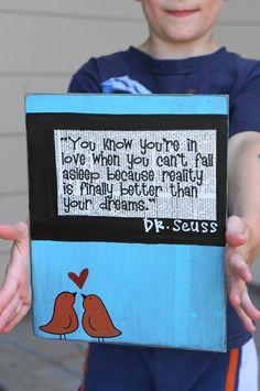 Dr Seuss handmade anniversary wedding card. $15.95, via Etsy.