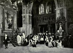 Stage Photograph of the Te Deum scene in Act 1 of Puccini's 1900 opera Tosca | [photographer unknown]