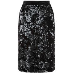 Fenn Wright Manson Petite Universe Skirt, Black ($130) ❤ liked on Polyvore featuring skirts, petite, petite skirts, sparkle skirts, knee high skirts, knee length pencil skirt and embellished skirt