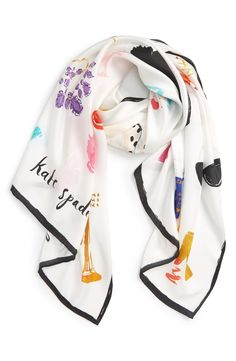 kate spade new york 'things we love' oblong silk scarf available at #Nordstrom