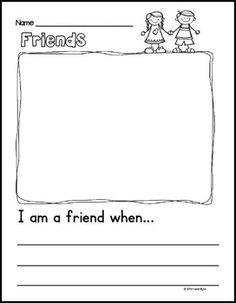 Friendship Writing prompt FREEBIE!
