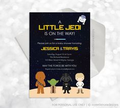 Star Wars Baby Shower Invitation - Printable - Customized - Baby Shower Invite - 021