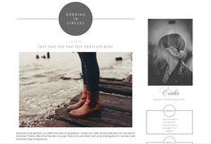 PREMADE BLOG TEMPLATE blogger Running in circles by ThisGirlDesign, $35.00