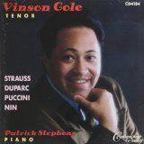 "Vinson Cole, ""Strauss, Duparc, Puccini, Nin,"" album cover, 1991"