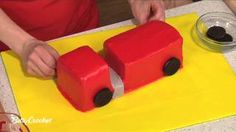 How To Make a Fire Truck Birthday Cake with Betty Crocker, via YouTube.
