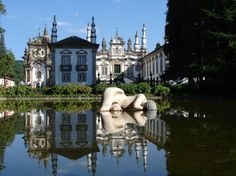 Joao Cutileiro's beautiful sculpture against the barroque splendor of Solar de Mateus, Portugal