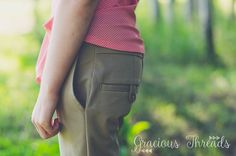 Éléonore Pull-On Jeans made with Upcycled Dockers!