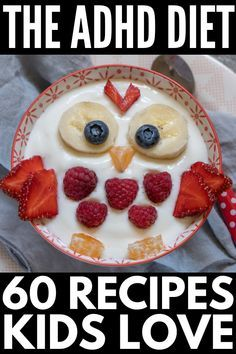This collection of ADHD diet breakfast, lunch, dinner, snack, and dessert recipes is perfect for the whole family – even for picky eaters! The ADHD Diet For Kids: Tips and Recipes For Parents - ADHD Diet Tips and Recipes Diet Recipes, Dessert Recipes, Healthy Recipes, Meals Kids Love, Adhd Diet, Picky Eaters Kids, Kids Diet, Diet Breakfast, Perfect Breakfast