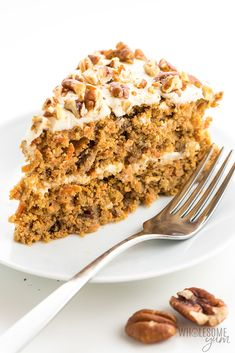 Low Carb Keto Sugar-Free Carrot Cake Recipe with Almond Flour - The best keto low carb carrot cake recipe ever! The steps for how to make sugar-free carrot cake are surprisingly easy. So moist and delicious, no one will guess it's gluten-free and sugar-free. Paleo and dairy-free options, too.