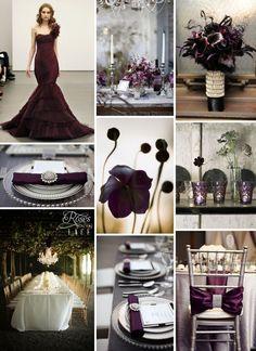 aubergine wedding