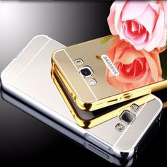Phone Case For Samsung Galaxy  j2 j200  Bling Metal Aluminum Frame Bumper Mirror Surface Back Cover Cases For Galaxy J 2