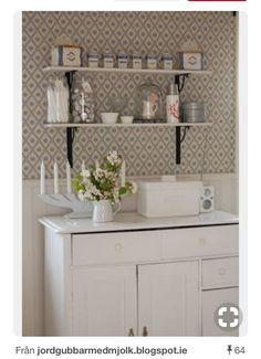 Kitchen Wall Quotes, Kitchen Wall Decals, Kitchen Vinyl, Swedish Kitchen, Country Kitchen, Old Cottage, Kitchen Wallpaper, Nordic Interior, Cottage Interiors