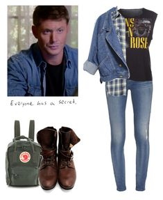 Dean Winchester - spn / supernatural by shadyannon on Polyvore featuring polyvore fashion style Vintage Koral John Fluevog Fjällräven clothing