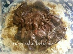 Muminahs Kitchen مطبخ مؤمنة: Kuwaiti Style rice and beef with spiced onions
