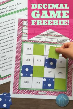 Four freebie decimal games!   Engage students with 4 in a Row Games that allow them to practice adding, subtracting, multiplying, and dividing decimals.  Enjoy this freebie from Abby's Creative Schoolhouse!