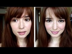 ▶ Azjatycki makijaż ekstremalnie powiększający oczy - YouTube