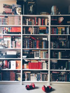 "queenofbabble: "" As someone who owns over 900 (or maybe 1000 who knows tbh) books you would think I would take more photos but I'm lazy. Here's some of my other bookshelves and yes, I included the..."
