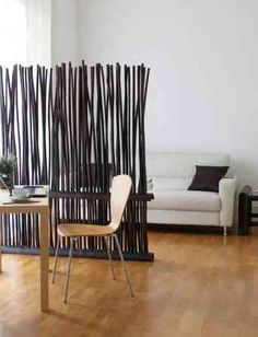 bamboo flexible room divider - classic