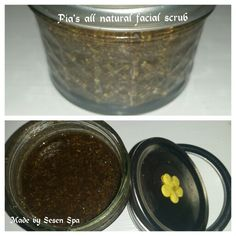 Handmade all natural scrub,  made from spices, natural fine salts, pure essential oils and carriers. Tailored for your skin needs  This one was made to treat dry, tired skin. It is also particularly good to treat old scars and marks.
