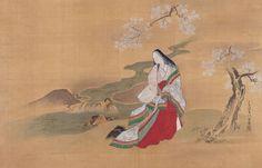 Lady Ise (伊勢)By Miyagawa Chōshun (宮川長春; 1683–1753)Edo period, 18th centuryHanging scroll; ink and color on silk