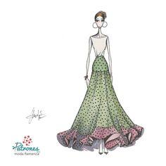 Otra de nuestras preferidas! Alejandrita falda de capa con un volante bajo. Encuentra el patrón en nuestra web. . . . #Patronesmodaflamenca #PatronistaFlamenca #patronaje #patronista #modaflamenca #faldaflamenca #trajedegitana #tfajedeflamenca #volantes #lunares #flamenca2018 #patrones #diseñomodaflamenca #lookflamenca