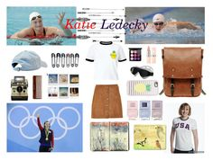 """""""Katie Ledecky Rio Olympic 2016"""" by birdy3000 ❤ liked on Polyvore featuring Miss Selfridge, Forever 21, Ally Capellino, Moleskine, Soaked in Luxury, Nails Inc., MAC Cosmetics, TYR and Casetify"""