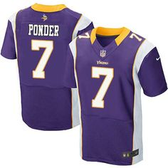 NIKE NFL Jerseys Minnesota Vikings 7 Christian Ponder Elite jerseys 5e4c6c365