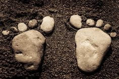 Natural footmark