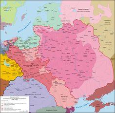Polska 1386 - 1434 - Union of Grodno - Wikipedia Poland History, Fallen Empire, Poland Travel, Historical Maps, Prehistory, World History, Close Image, Genealogy, Planer