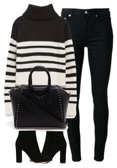 """Untitled #3906"" by london-wanderlust ❤ liked on Polyvore featuring BLK DNM, Zara, Givenchy and Gianvito Rossi"