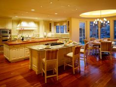 Both functional and beautiful, these kitchens floors can withstand heavy traffic while enhancing the design of the room.