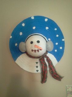 Straw hat snowman. Happy birthday Jenniffer<3