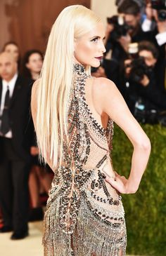 56b213b8161b Poppy Delevingne Shimmers on the Met Gala 2016 Red Carpet  Photo Poppy  Delevingne wears a shimmering bejeweled dress while walking down the red  carpet at ...