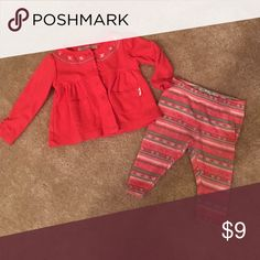 Lucky brand cami and leggings GUC 3m Aztec pattern leggings w matching cami Lucky Brand Matching Sets